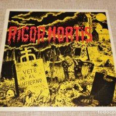 Discos de vinilo: LP - RIGOR MORTIS - VETE AL INFIERNO 1983. Lote 195045300