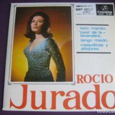 Discos de vinilo: ROCIO JURADO EP COLUMBIA 1965 - TORO MANSO +3 - CANCION ESPAÑOLA - COPLA FLAMENCA. Lote 195046612