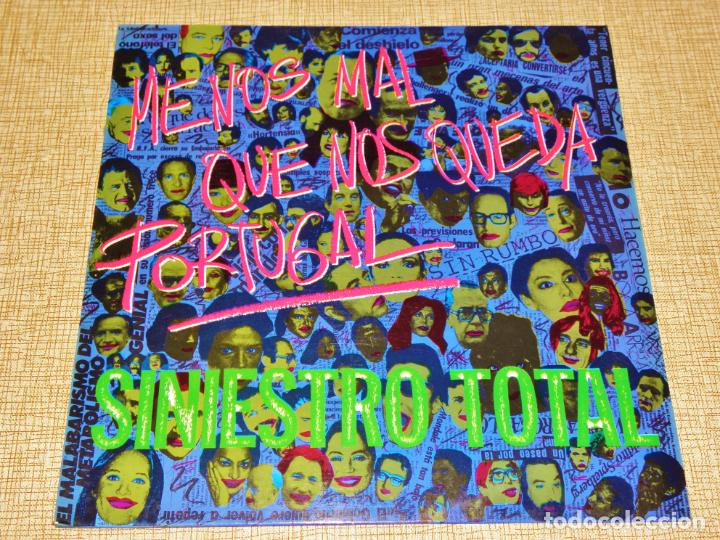 SINIESTRO TOTAL SPAIN LP MENOS MAL QUE NOS QUEDA PORTUGAL 1984 DRO 050 NEW WAVE PUNK ROCK + INSERT ! (Música - Discos - LP Vinilo - Grupos Españoles de los 70 y 80)