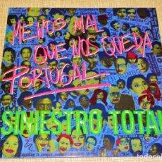 Discos de vinilo: SINIESTRO TOTAL SPAIN LP MENOS MAL QUE NOS QUEDA PORTUGAL 1984 DRO 050 NEW WAVE PUNK ROCK + INSERT !. Lote 195048227