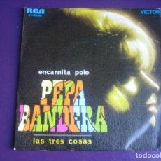 Discos de vinilo: ENCARNITA POLO SG RCA 1969 - PEPA BANDERA +1 RUMBAS POP - . Lote 195049350