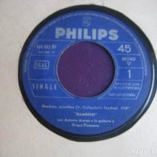 Discos de vinilo: BAMBINO SG PHILIPS -(PROBABLEMENTE SINFONOLA) BAMBINO PICCOLINO +1 - ANTONIO ARENAS - RUMBAS BOLERO. Lote 195049450