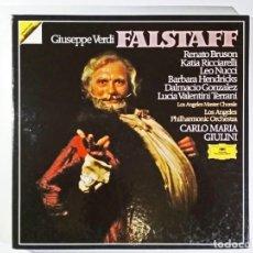 Discos de vinilo: GIUSEPPE VERDI. FALSTAFF; CARLO MARIA GIULINI. 1982. BOX 3 VINILOS.. Lote 195052138