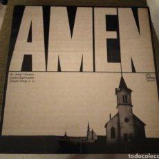 Discos de vinilo: AMÉN. CANTOS ESPIRITUALES. GOSPEL. Lote 195056607