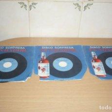 Discos de vinilo: 3 DISCOS SORPRESA FUNDADOR. SERIE AZUL. 1966. Lote 195056735