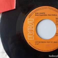 Discos de vinilo: RON DANTE / LET ME BRING YOU UP / SINGLE 7 INCH. Lote 195059345