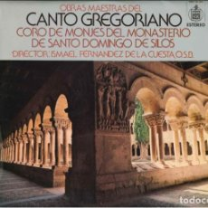 Discos de vinilo: CANTO GREGORIANO . Lote 195062903