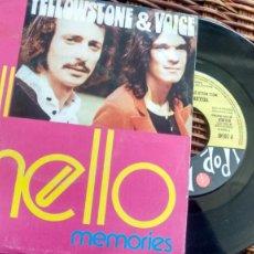 Discos de vinilo: SINGLE ( VINILO) DE YELLOWSTONE AND VOICE AÑOS 70. Lote 195064003