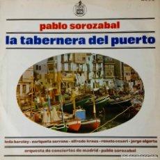 Discos de vinilo: LA TABERNERA DEL PUERTO.LEDA BARCLAY.E. SERRANO.A. KRAUS... DOBLE LP CON LIBRETO. Lote 195064350