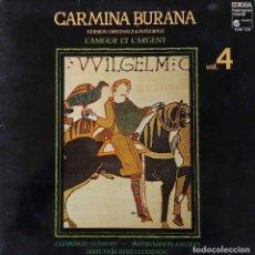 Discos de vinilo: CARMINA BURANA. VERSION ORIGINAL E INTEGRAL. L´AMOUR ET L´ARGENT. LP ESPAÑA PORTADA ABIERTA. Lote 195065768