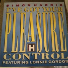 Discos de vinilo: SIMON HARRIS FEATURING LONNIE GORDON - I' VE GOT YOUR PLEASURE CONTROL. Lote 195066883