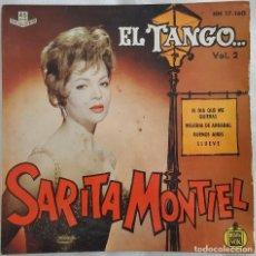 Discos de vinilo: EP / SARITA MONTIEL-TANGO/EL DIA QUE ME QUIERAS - MELODIA DE ARRABAL - BUENOS AIRES - LLUEVE / 1961. Lote 195067462