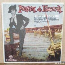 Discos de vinilo: PERLITA DE HUELVA - FANDANGOS DE ALMERÍA, BAJA ESTRELLITA... - EP. DEL SELLO COLUMBIA 1961. Lote 195067467