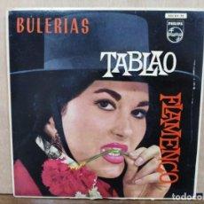 Discos de vinilo: TABLAO FLAMENCO, LA PAQUERA DE JEREZ - ESTA RUBIA PANAERA, BULERÍAS DE LA GIRALDA.. - EP. PHILIPS 62. Lote 195068598