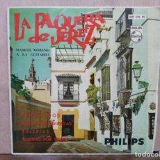 Discos de vinilo: LA PAQUERA DE JEREZ - NARDO Y CLAVELLINA, LOS OJOS DE JUAN GALLARDO.. - EP. DEL SELLO PHILIPS 1961. Lote 195068786