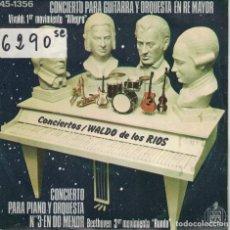 Discos de vinilo: WALDO DE LOS RIOS - VIVALDI / BEETHOVEN (SINGLE ESPAÑOL, HISPAVOX 1976). Lote 195069393