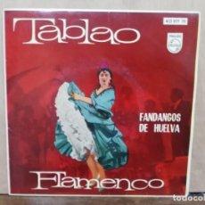 Discos de vinilo: TABLAO FLAMENCO, FANDANGOS - ANTES DE LA PRIMAVERA, CANTARES DE LOS ROMEROS...- EP. PHILIPS 1962. Lote 195069396