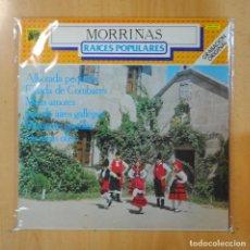 Discos de vinilo: MORRIÑAS - RAICES POPULARES - LP. Lote 195070982
