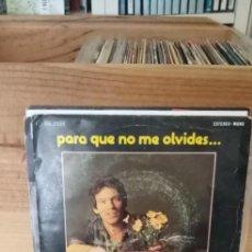 Discos de vinilo: LORENZO SANTAMARIA PARA QUE NO ME OLVIDES.... Lote 195071216