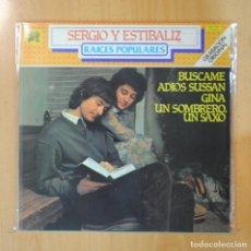 Discos de vinilo: SERGIO Y ESTIBALIZ - RAICES POPULARES - LP. Lote 195071272