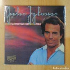 Discos de vinilo: JULIO IGLESIAS - 24 EXITOS DE ORO - LP. Lote 195071495