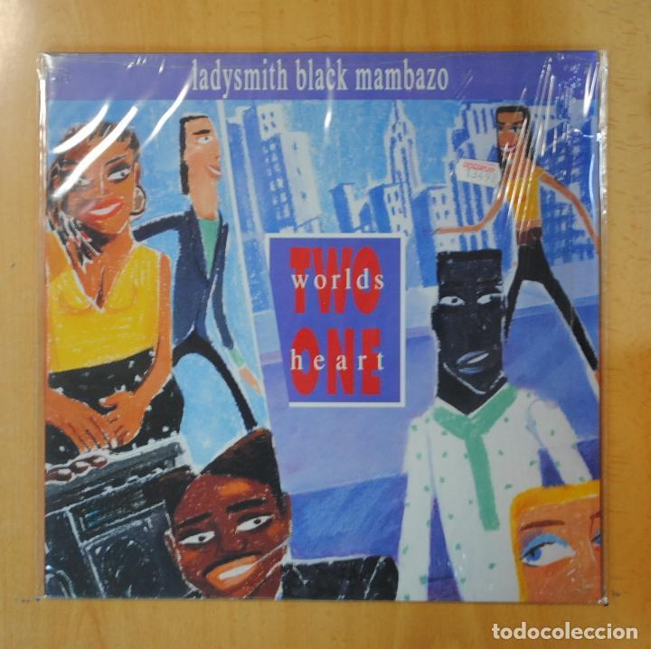 LADYSMITH BLACK MAMBAZO - TWO WORLDS ONE HEART - LP (Música - Discos - LP Vinilo - Étnicas y Músicas del Mundo)