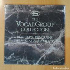 Discos de vinilo: PLATTERS / PENGUINS / DEL VIKINGS / DANLEERS - THE VOCAL GROUP COLLECTION - GATEFOLD - 2 LP. Lote 195071676