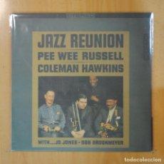 Discos de vinilo: PEE WEE RUSSELL / COLEMAN HAWKINS - JAZZ REUNION - LP. Lote 195072128