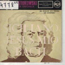 Discos de vinilo: BACH - SICILIANO / JESUS MIO (LEOPOLDO STOKOWSKI) (EP ESPAÑOL, RCA 1959). Lote 195072747