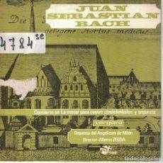 Discos de vinilo: BACH - CONCIERTO EN LA MENOR PARA CUATRO CLAVICEMBALOS Y ORQUESTA (EP ESPAÑOL, VERGARA 1966). Lote 195072836