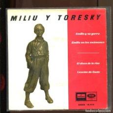 Discos de vinilo: MILIU Y TORESKY. EMILIO EN LOS EXÁMENES, ETC.. EMI ODEON 1961. EP BUENO. Lote 195072946