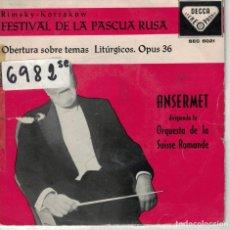 Discos de vinilo: ANSERMET - FESTIVAL DE LA PASCUA RUSA (RIMSKY-KORSAKOW) (EP ESPAÑOL, DECCA 1959). Lote 195073001