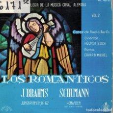 Discos de vinilo: ANTOLOGIA DE LA MUSICA CORAL ALEMANA - LOS ROMANTICOS (BRAHMS, SCHUMANN). Lote 195073220