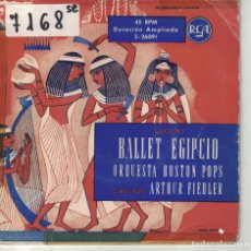Discos de vinilo: ARTHUR FIEDLER CON ORQUESTA BOSTON POPS - BALLET EGIPCIO (LUIGINI) (EP ESPAÑOL, RCA SIN FECHA). Lote 195073661