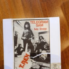 Discos de vinilo: T. REX TELEGRAM SAM / BABY STRANGE 45 RPM ED. ESPAÑA 1972 10989 ARIOLA. Lote 195074651