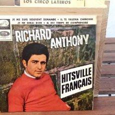 Discos de vinilo: RICHARD ANTHONY JE ME SUIS SOUVENT. Lote 195075011
