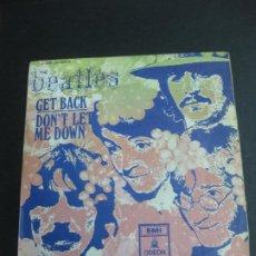 Discos de vinilo: THE BEATLES. GET BACK - DON'T LET ME DOWN. EMI ODEON 1 J-006-04.084 M . 1969.. Lote 195075123