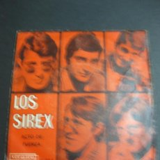 Discos de vinilo: LOS SIREX. ACTO DE FUERZA - FALDAS CORTAS PIERNAS LARGAS. VERGARA 45.160 A.. Lote 195077168
