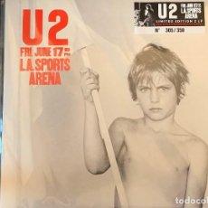 Discos de vinilo: U2 - L.A. SPORTS ARENA - 2 LP, ED. LIMITADA, L.A.'83, VINILO ROJO MIXED MODE NEGRO. Lote 195077198