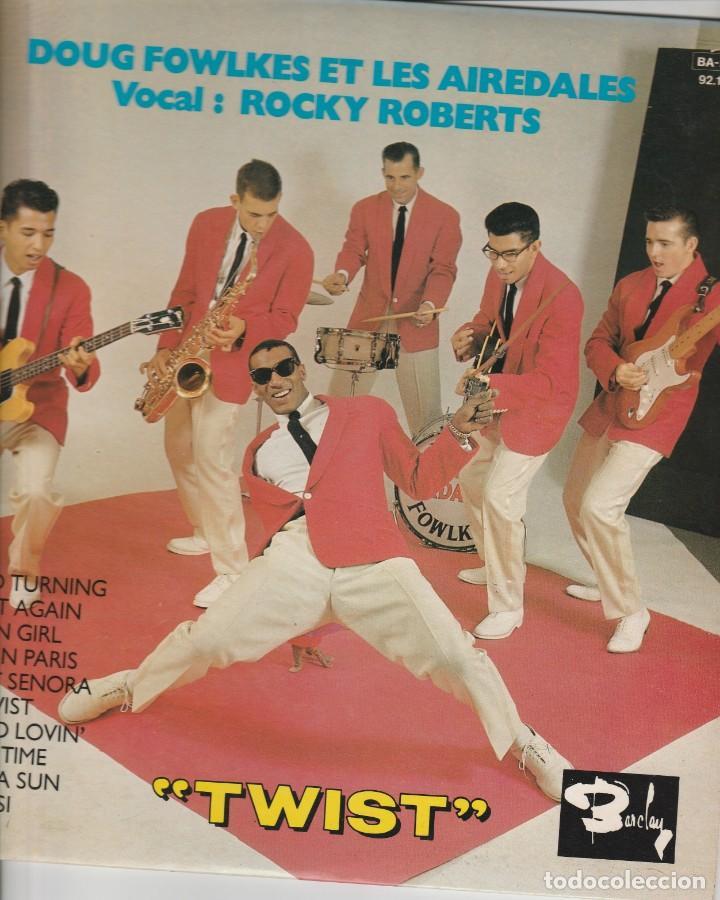 Discos de vinilo: 25cm Rocky Roberts & Aireadles Twist label Barclay France Doug fowlkes et les aireadales vocal RR - Foto 2 - 195079462