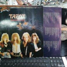 Discos de vinilo: TREAT LP DREAMHUNTER HOLANDA 1987. Lote 195079558