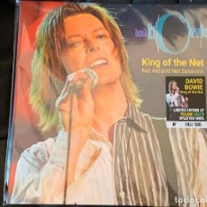 Discos de vinilo: DAVID BOWIE - KING OF THE NET - NET AID AND NET SESSIONS - 1 LP, ED. LIMITADA, VINILO YELLOW GREEN S. Lote 195079762