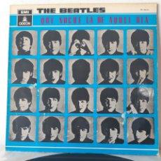 Discos de vinilo: THE BEATLES. QUE NOCHE LA DE AQUEL DIA. 064 1041451. ODEON. 1964. SPAIN. Lote 195080595