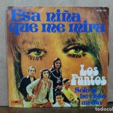 Discos de vinilo: LOS PUNTOS - ESA NIÑA QUE ME MIRA / SÓLO LA HE VISTO UN DÍA - SINGLE DEL SELLO POLYDOR 1974. Lote 195082418