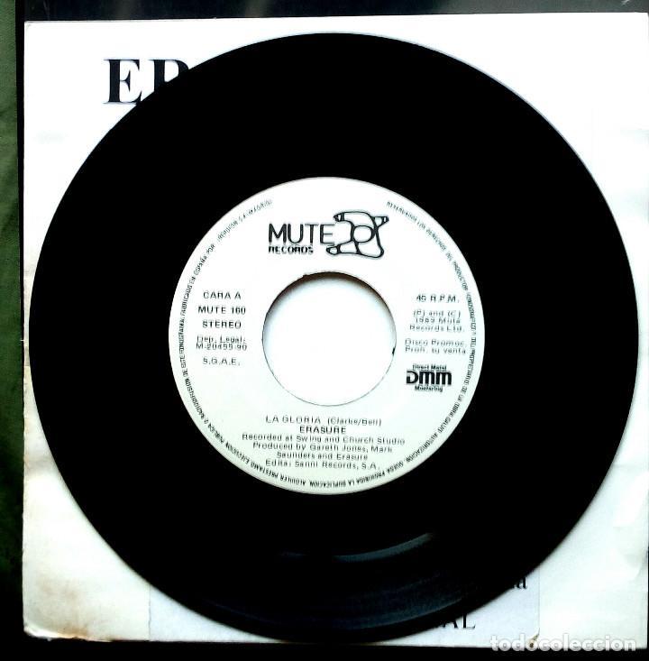Discos de vinilo: Erasure - La Gloria 45 RPM, Single Sided, Promo 1990 Synth-pop - Foto 2 - 195083346