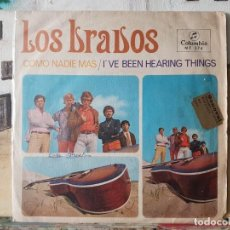Discos de vinilo: ** LOS BRAVOS - COMO NADIE MAS / I'VE BEEN HEARING THINGS - SINGLE 1967 - LEER DESCRIPCIÓN. Lote 195084263