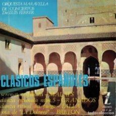 Discos de vinilo: CLASICOS ESPAÑOLES - ORQUESTA MARAVELLA DE CONCIERTOS (EP ESPAÑOL, ZAFIRO 1965). Lote 195085336