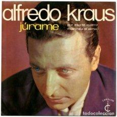 Discos de vinilo: ALFREDO KRAUS - JURAME, POR ESO TE QUIERO, MARCHITA EL ALMA - EP CARILLON 1968. Lote 195085883