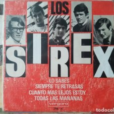 Discos de vinilo: ** LOS SIREX - LO SABES / SIEMPRE TE RETRASAS + 2 - EP 1966 - LEER DESCRIPCIÓN. Lote 195086933