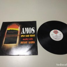 Discos de vinilo: 0220- AMOS ONLY SAW TODAY MEDLEY & INSTANT KARMA 1994 LP VIN POR VG + DIS VG +. Lote 195087182